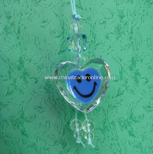 Crystal Heart Shaped Mobile Phone Charm