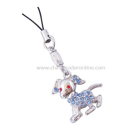 Delta Metal Dog Mobile Phone Charms