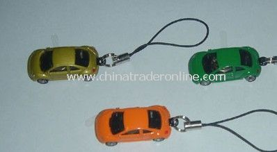 Mobile Phone Straps With Mini Flash Cars