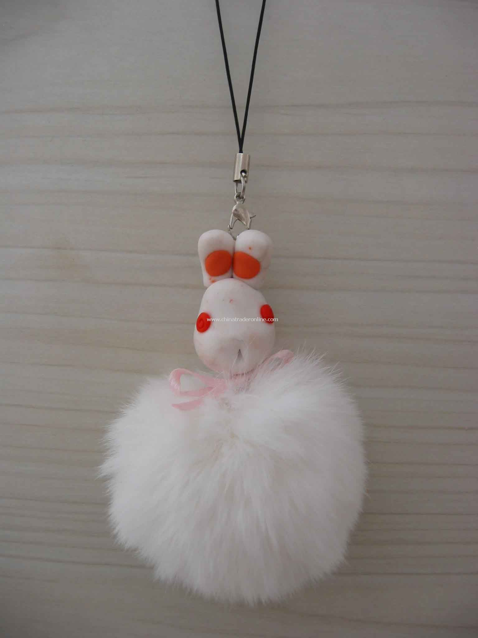 Fur Mobile Phone Chain