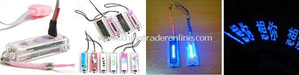 Mobile Phone Flashing Straps --LED Flashing Mobile Phone Novelty