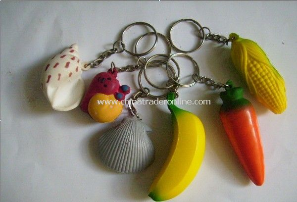 PU Foam Vagetable Key Chain from China