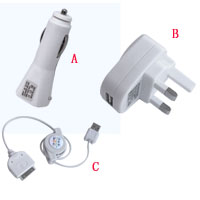 Accessories for iPod - 3 in 1 Charger for iPod