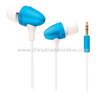 Metallic In-Ear iPhone Earphone (Blue)