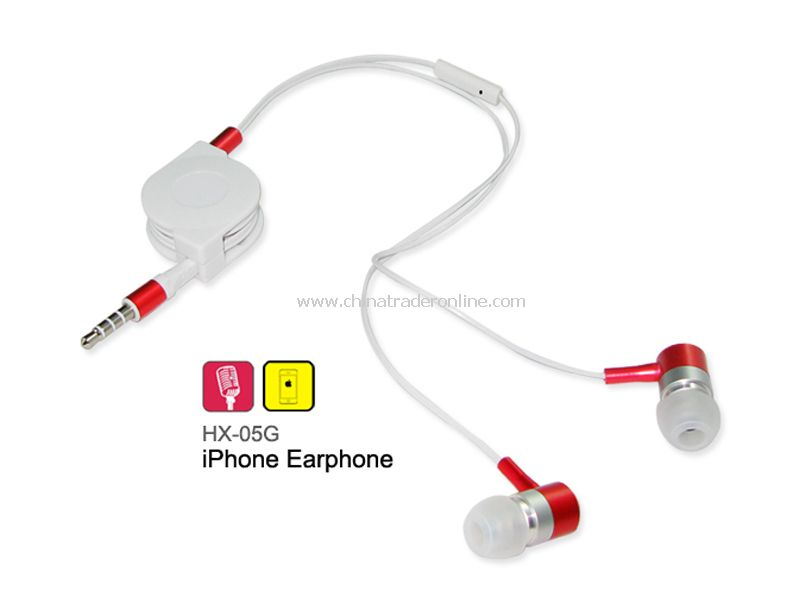 Retractable Earphone for iPhone