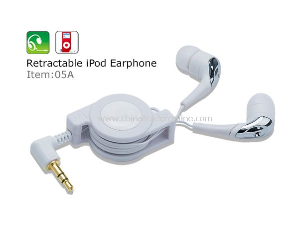 Retractable iPod/MP3 Earphone