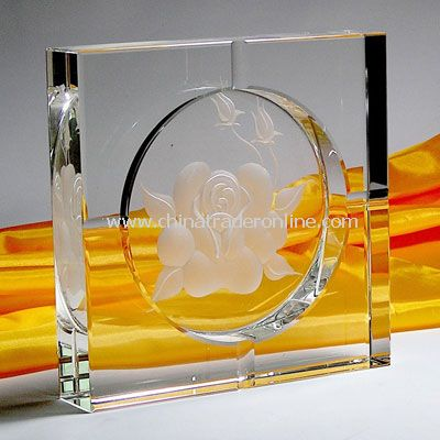3D Crystal Ashtray from China