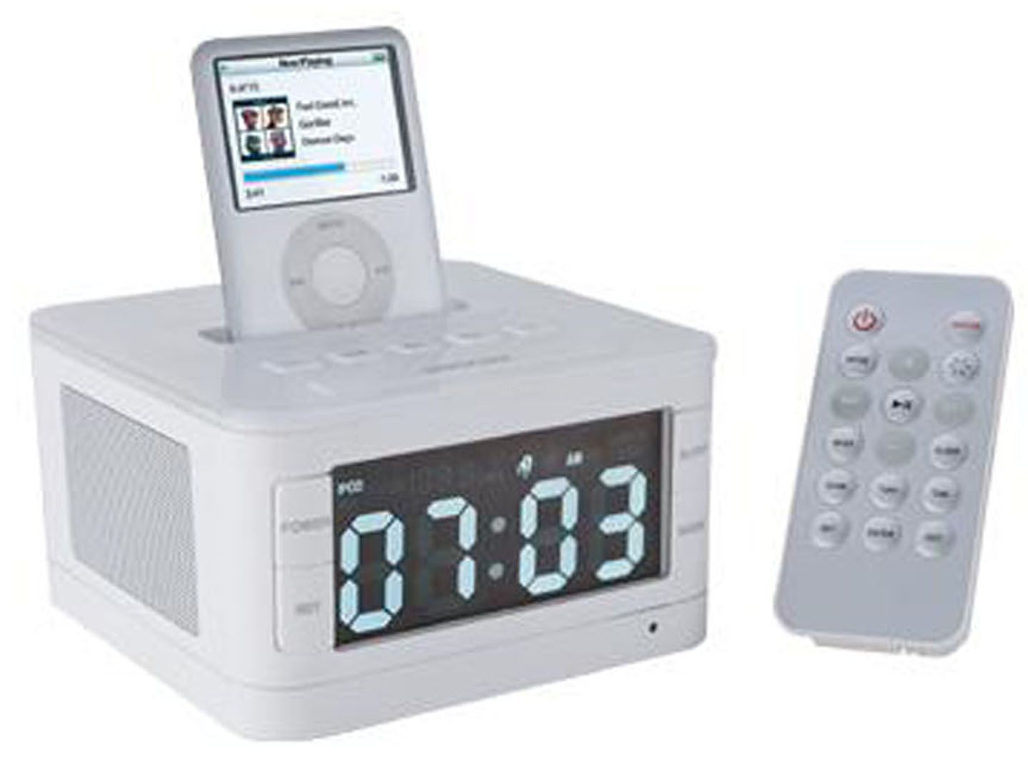 Alarm Clock Radio Speaker for iPhone With Remote Control