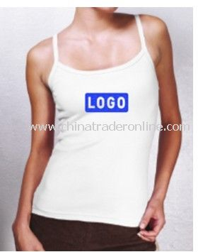 American Apparel 1x1 Rib Tank Top, White from China