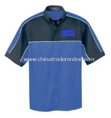 Mens Color Block Short-Sleeved Shirt from China