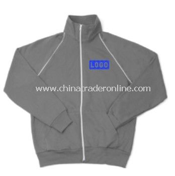 Fleece Jacket - American Apparel Unisex Track , Cotton