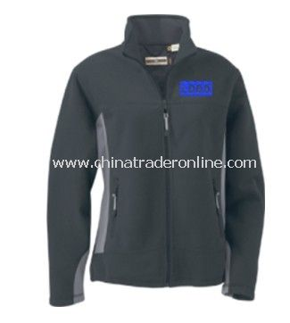 Fleece Jacket - Ladies Full Zip Fleece Bonded to Brushed Mesh, Polyester / Spandex