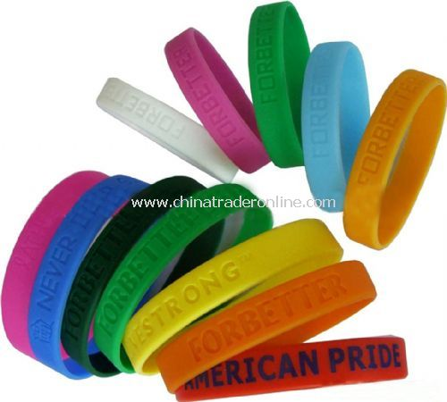 silicone wristband from China