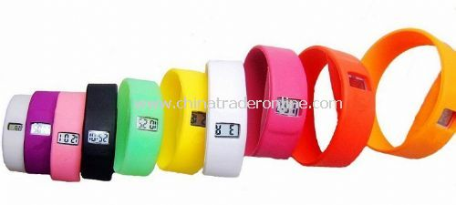 wristband silicone sport watch