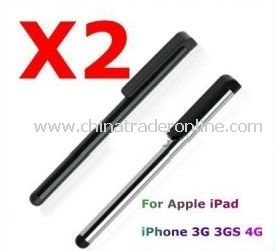 2 x STYLUS PEN FOR iPhone 4 4G 3G 3GS iPod Touch iPad