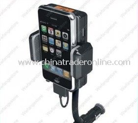 Car Mount Holder FM Transmitter Charger for iPhone 4 4G
