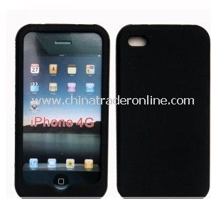 NEW BLACK SILICONE CASE COVER SKIN For Apple iPhone 4 4G