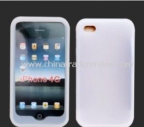 NEW CLEAR WHITE SILICONE CASE COVER SKIN For Apple iPhone 4 4G