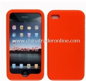 NEW ORANGE SILICONE CASE COVER SKIN For Apple iPhone 4 4G