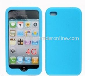 NEW SEA BLUE SILICONE CASE COVER SKIN For Apple iPhone 4 4G