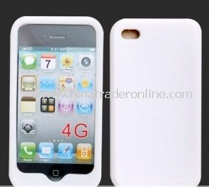 NEW WHITE SILICONE CASE COVER SKIN For Apple iPhone 4 4G