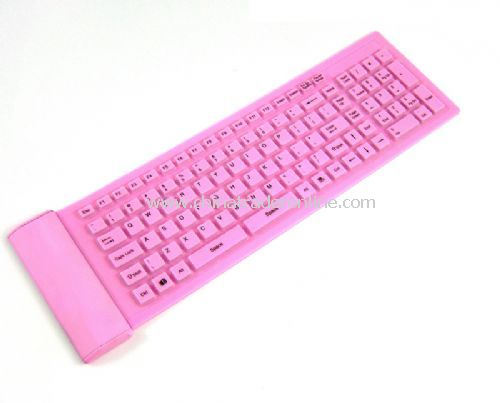 104-key slim flexible keyboard