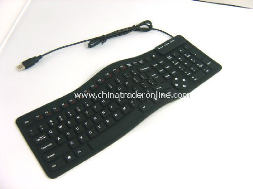 108-key slim flexible keyboard