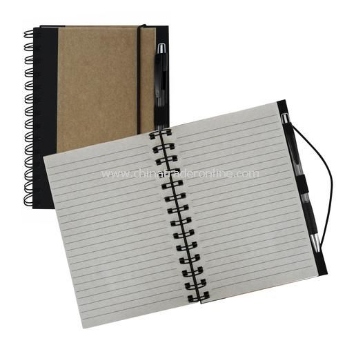 Recycled Color Spine Spiral Notebook