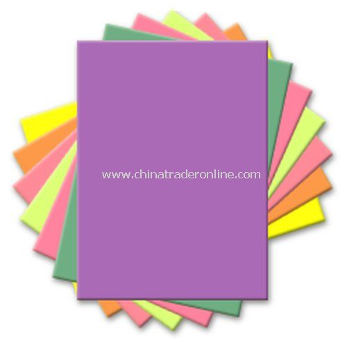 Custom Printed 25-Sheet Neon Post-It Note Pad from China