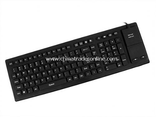 106-key Flexible Keyboard with Full Sealed Touchpad