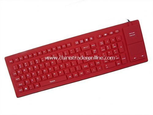 106-key Flexible Keyboard with Full Sealed Touchpad from China