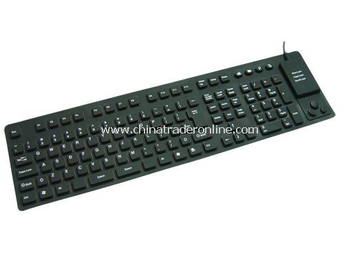 116-key flexible keyboard with Built-in Mouse