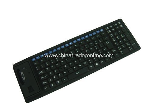 125-key 2.4GHz wireless multimedia flexible keyboard from China