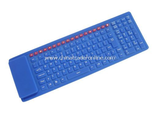 125-key 2.4GHz wireless multimedia flexible keyboard