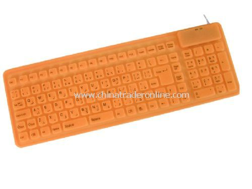106-key slim flexible keyboard