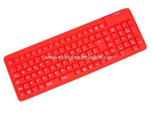106-key slim flexible keyboard