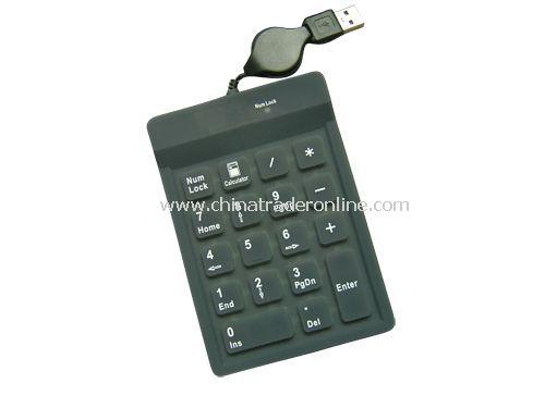 18-key silicone keypad