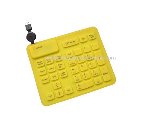33-key silicone keypad