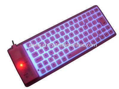 85-key EL flexible keyboard