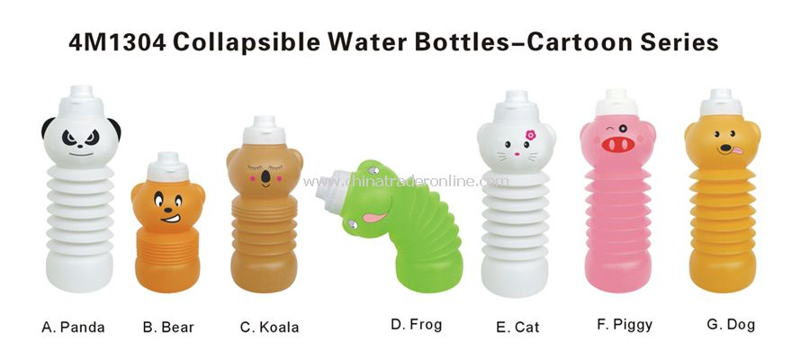 Collapsible Sports Bottles--Cartoon Series