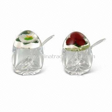 Cotton Swab and Toothpick Holders with Decorative Floaters and Inserts, Hygenic and Durable