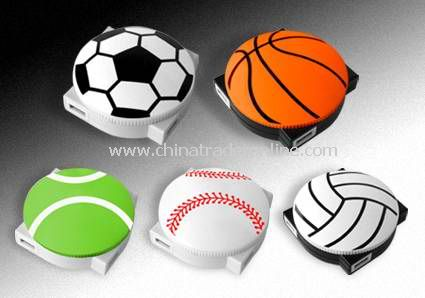 Football shape promotional Revolving USB Hub