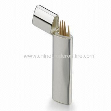 Silver-plated Toothpick Holder, Measuring 19 x 11 x 86mm