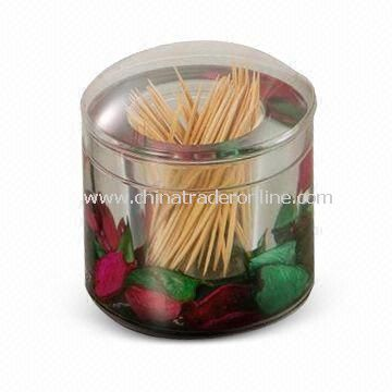 Toothpick Box/Cotton Swab Holder, OEM/ODM Orders are Welcome