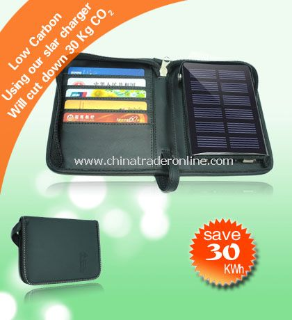 Solar Wallet with card sleeve