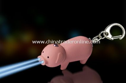 Pig-shaped LED Keychain