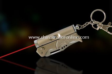spring kinfe with 5 in 1 laser pointer from China