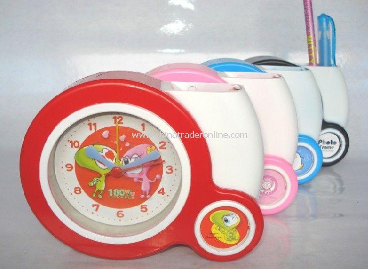 Photo Frame Clock round pen