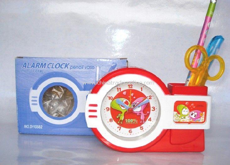 Photo Frame Clock Square Pen