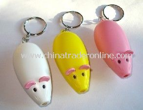 Small flashlight Mouse key ring